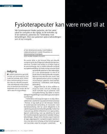 Fysioterapeuter kan være med til at bryde tabuet - Danske ...