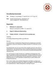 Indkaldelse til HB-møde den 2. maj 2012 - Danske Fysioterapeuter