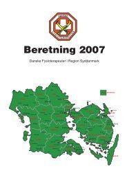 Årsberetning for 2007 - Danske Fysioterapeuter