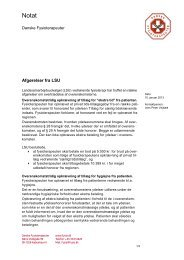 Læs afgørelserne fra LSU (pdf) - Danske Fysioterapeuter
