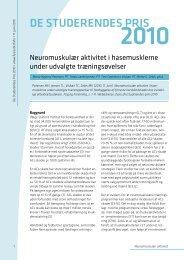 Neuromuskulær aktivitet i hasemusklerne under udvalgte ...