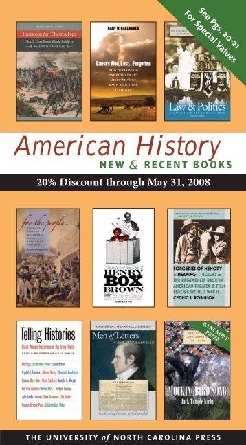 American History - UNC Press - University of North Carolina at ...