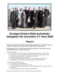 Rapport från SKRs delegationsresa till Jerusalem - Sveriges Kristna ...