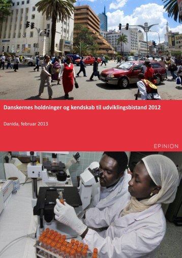 Danskernes holdninger og kendskab til udviklingsbistand 2012