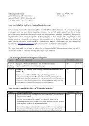 Liste over judicielle aktiviteter pr. 21. maj 2013 - Udenrigsministeriet