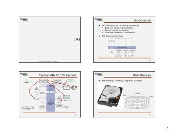 1 Introduction Typical x86 PC I/O System Disk ... - ECE Users Pages