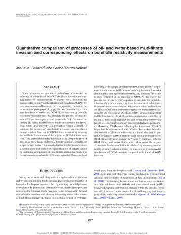 Quantitative comparison of processes of oil- and water-based mud ...