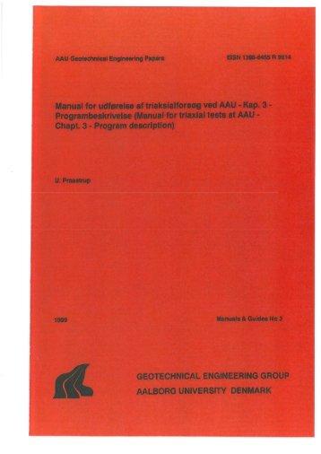 Manual for udførelse af triaksialforsøg ved AAU - VBN - Aalborg ...