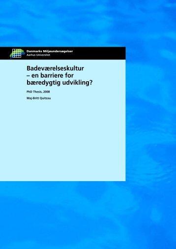 Badeværelseskultur - en barriere for bæredygtig udvikling?