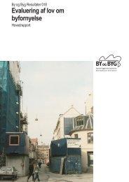 Evaluering af lov om byfornyelse - Statens Byggeforskningsinstitut