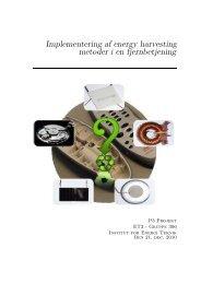 Implementering af energy harvesting metoder i en fjernbetjening