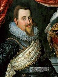 Danmark och Norges kung, Kristian IV, avbildad som fältherre vid ...