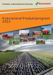 Kverneland Produktprogram 2013 - WebProof