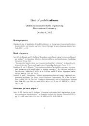 List of publications and presentations in pdf-format - Åbo Akademi