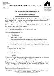 EJENDOMSADMINISTRATIONEN 4-B A/S - AB Kgs. Fiskedam