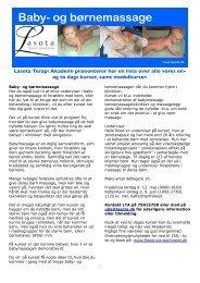 Kursusliste forår 2012 - Lasota Terapi Akademi