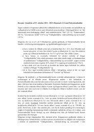 Resumé - Kendelse af 27. oktober 2011 - FICS Danmark A/S mod ...