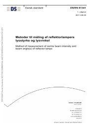 Metoder til måling af reflektorlampers lysstyrke og ... - Dansk Standard