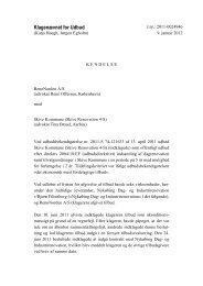 RenoNorden mod Skive Kommune - Kammeradvokaten