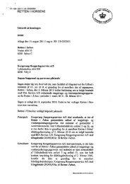 Retten i Horsens' dom - Kammeradvokaten