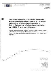 Stikpropper og stikkontakter, køretøjs- koblere og ... - Dansk Standard