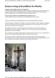 Konservering af krucifikser - Åbne Samlinger