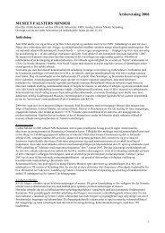 Årsberetning 2006 MUSEET FALSTERS MINDER - Åbne Samlinger