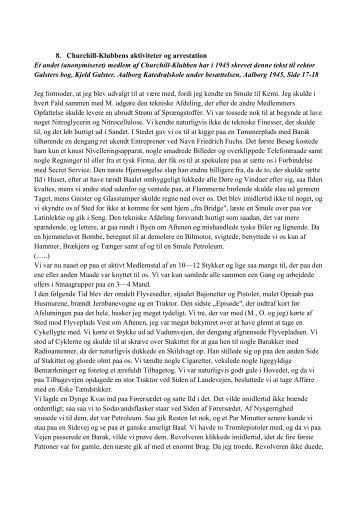 8. Churchill-Klubbens aktiviteter og arrestation - Aalborg Katedralskole