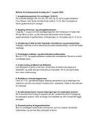 Referat fra ledelsesmøde torsdag den 7. august 2003. 1 ...