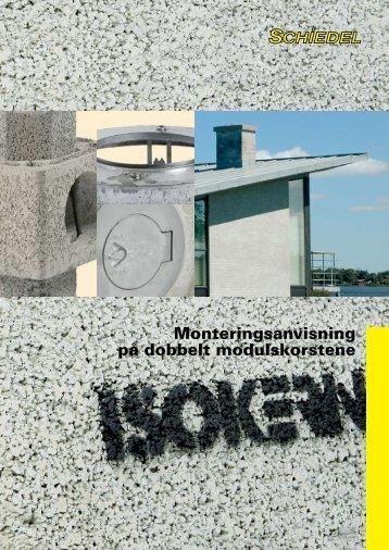 Monteringsanvisning på dobbelt modulskorstene - Lavprisvvs.dk