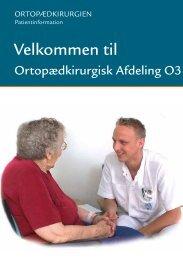 Velkommen til Ortopædkirurgisk Afsnit O3