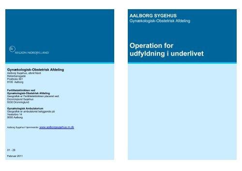 Operation for udfyldning i underlivet - Region Nordjylland