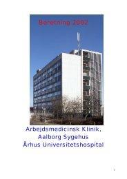 Årsberetning 2002 - Aalborg Universitetshospital