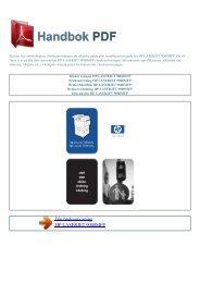 Bruker manual HP LASERJET 9000MFP - HANDBOK PDF