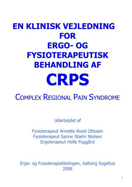 CRPS en klinisk vejledning for ergo