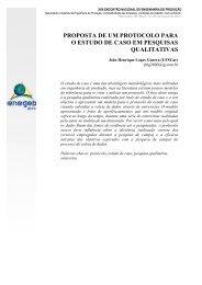 proposta de um protocolo para o estudo de caso em ... - Abepro