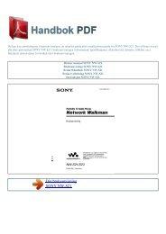 Bruker manual SONY NW-S21 - HANDBOK PDF