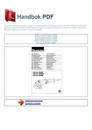 Bruker manual MAKITA 9005B - HANDBOK PDF