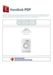 Bruker manual AEG-ELECTROLUX LAVA4442 - HANDBOK PDF