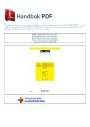 Bruker manual ZANUSSI WDS1002C - HANDBOK PDF