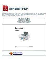 Bruker manual LEXMARK X4850 - HANDBOK PDF