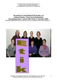 Beretning fra Lokal Klinisk Etisk Komite ved Aalborg Sygehus