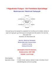 I Hippokrates Fodspor - Om Fremtidens Speciallæge