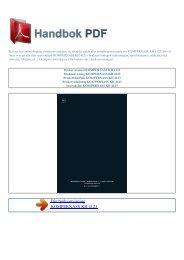 Bruker manual KOMPERNASS KH 4123 - HANDBOK PDF
