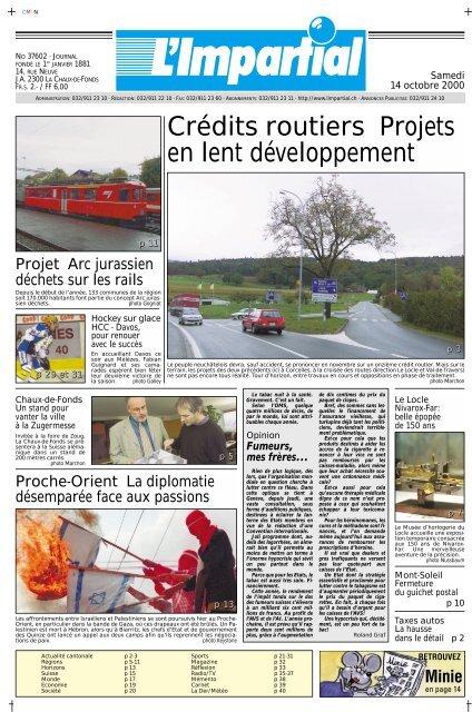 Edition Du 14 Octobre 2000