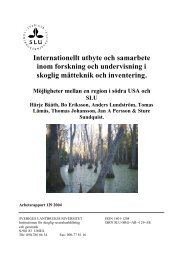 Internationellt utbyte och samarbete inom forskning och ... - SLU