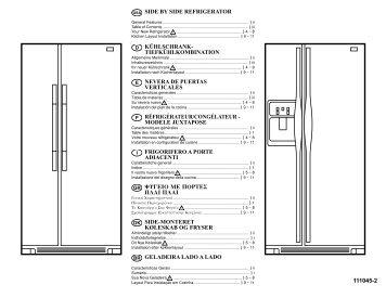 side by side refrigerator réfrigérateur/congélateur - Was ist der ...