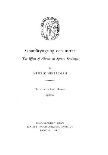 Granföryngring och nitrat