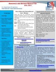Aerospace & Defense Update - Export.gov