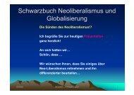 Schwarzbuch Neoliberalismus und Globalisierung